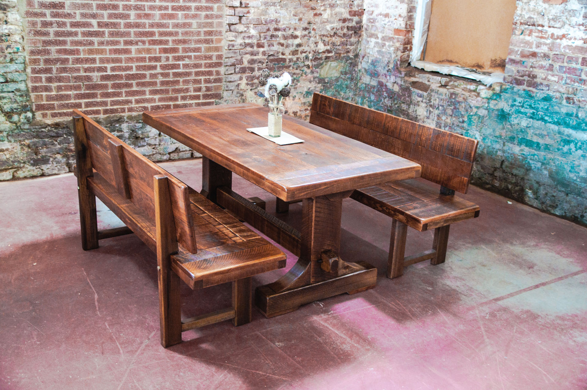 Emerson Trestle Custom Rustic Farm Table Atlanta