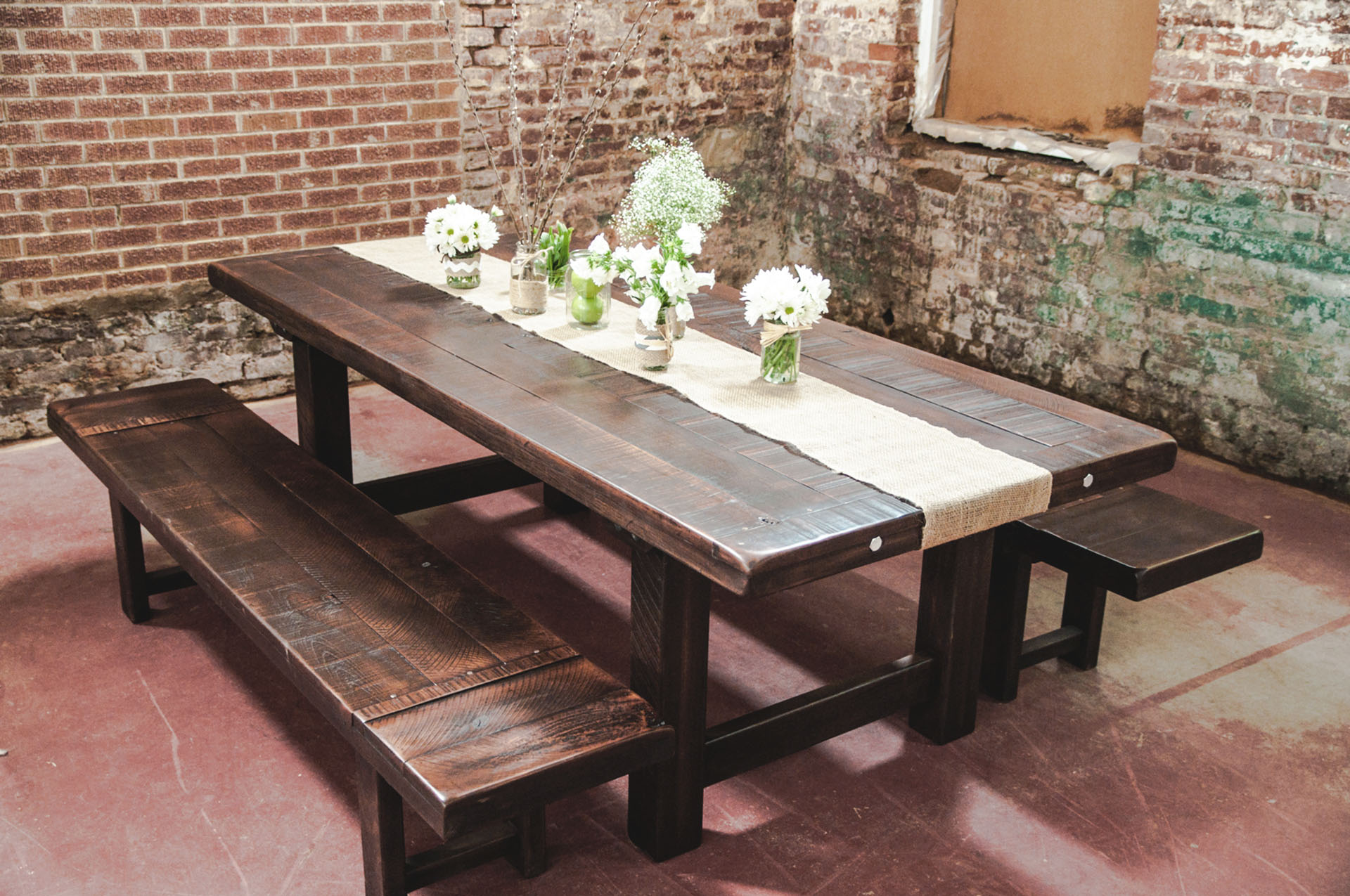 Clayton Custom Farm Table Woodworking Handmade Atlanta Rustic Trades Furniture