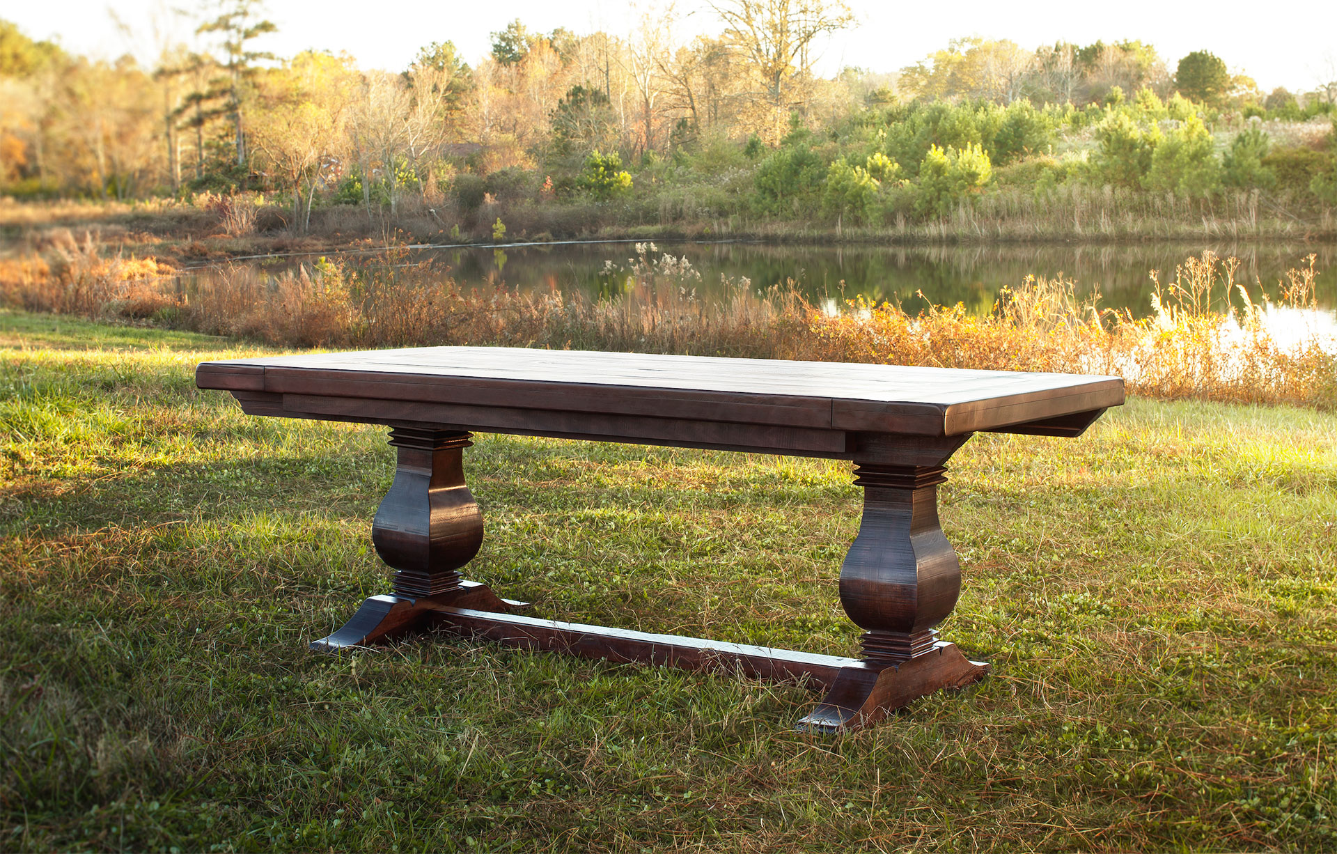 Rustic Weston Trestle Farmhouse Table Atlanta Ga Denver