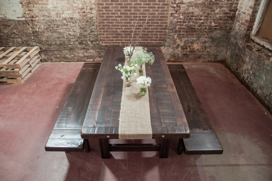 Rustic Trades Clayton Farm Table Benches 2
