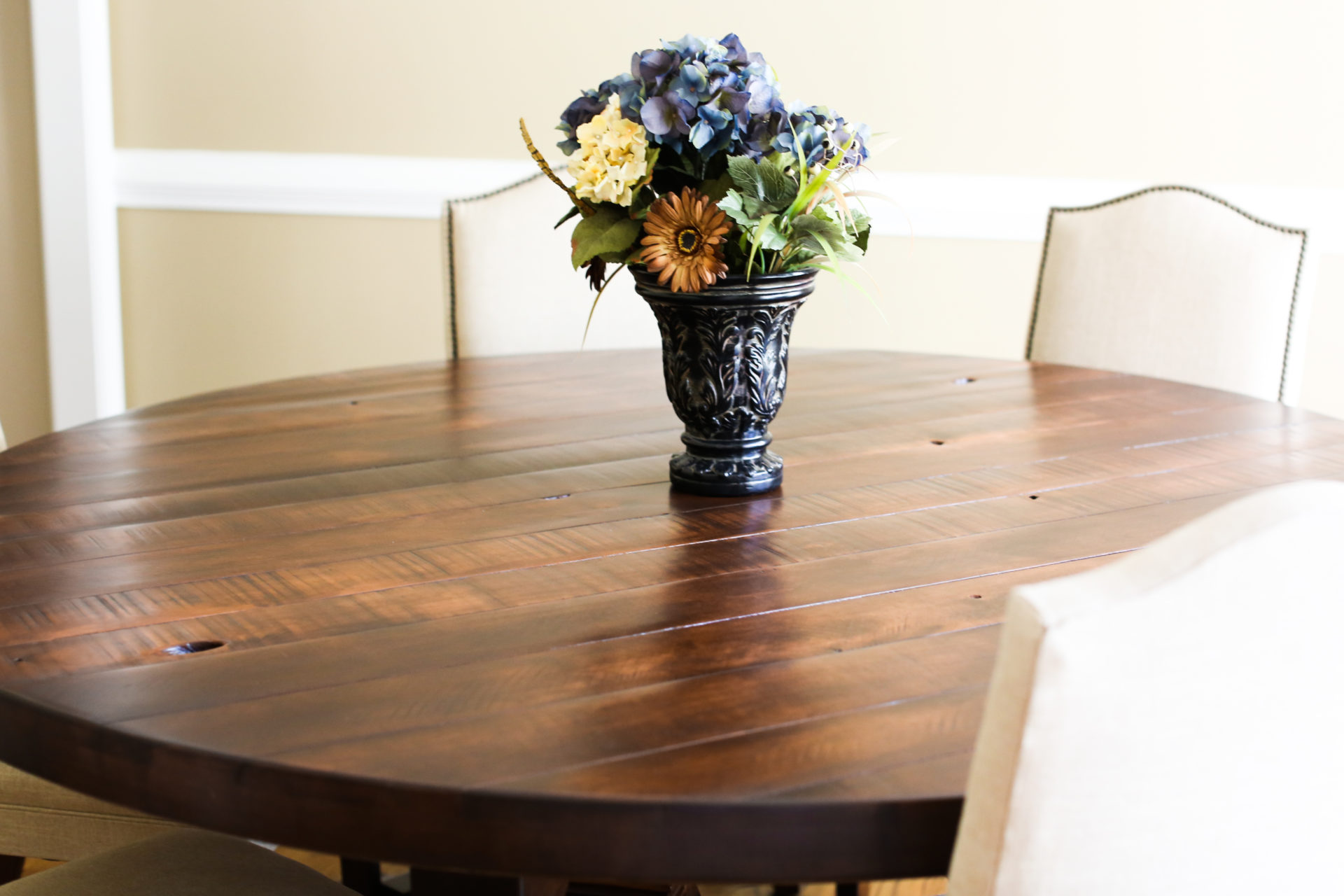 Weston Pedestal Table Rustic Large Custom Farm Table Rustic Trades Furniture