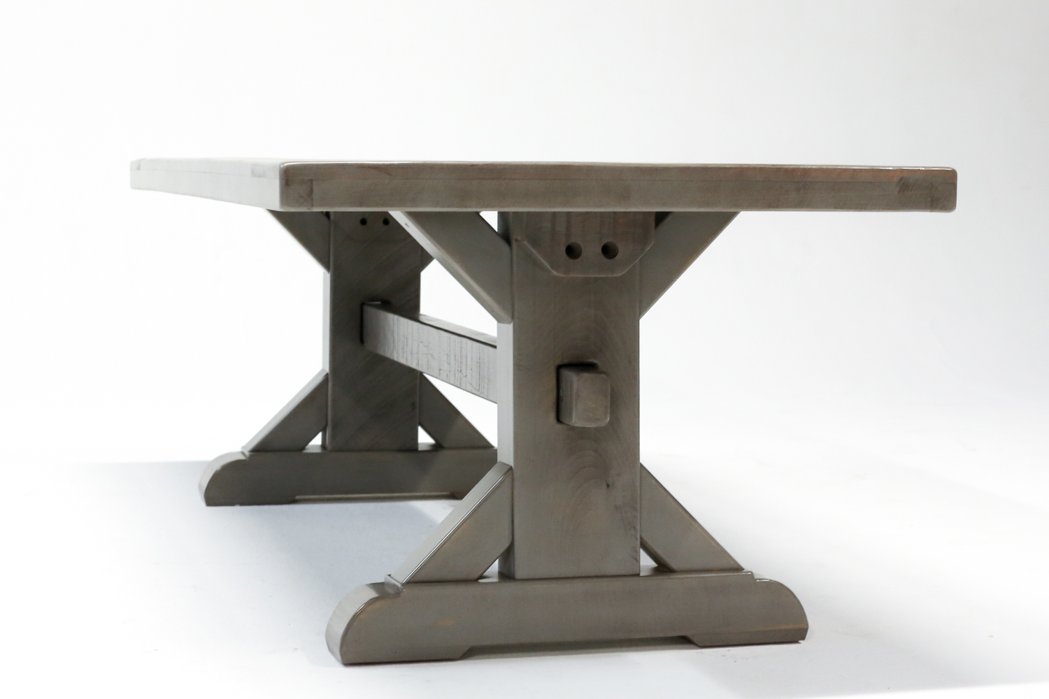 Rustic X Style Trestle Farm Table Atlanta GA Denver CO