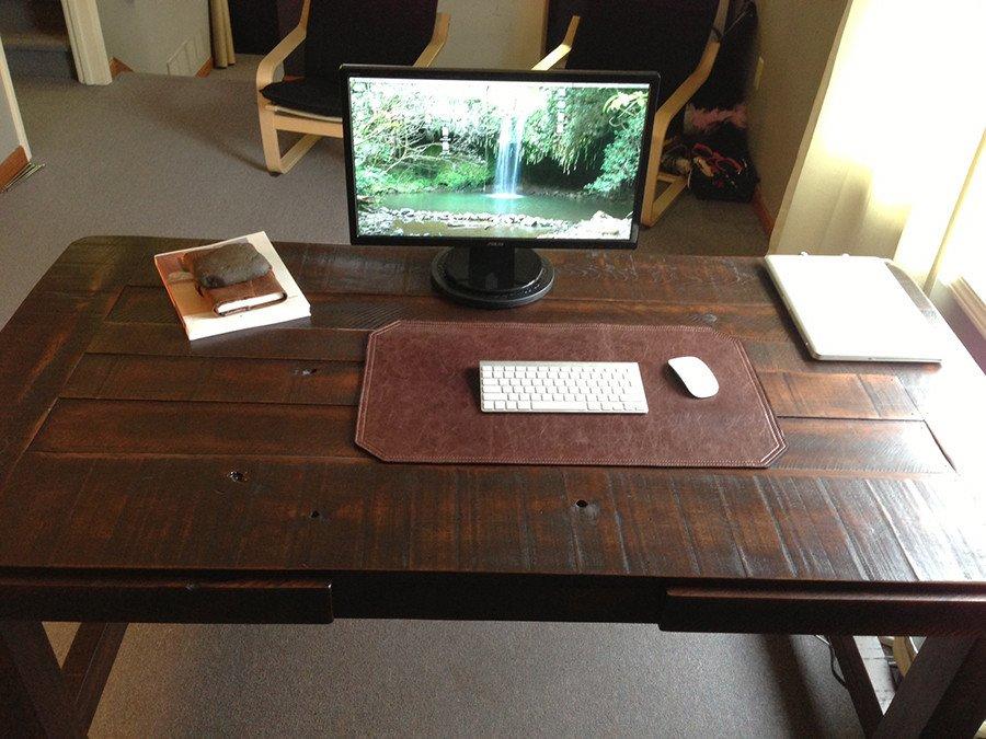 clayton desk   farm table   woodworking   handmade   atlanta