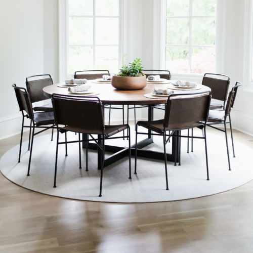 custom round dining table