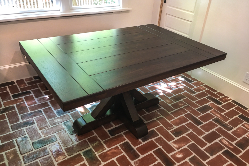 rustic jameson pedestal kitchen table
