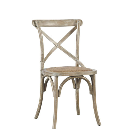 x back side chair Natural Cream wash