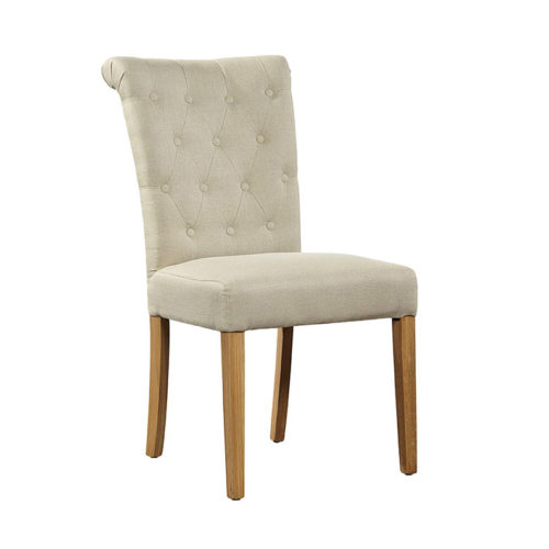 Linen-side-chair