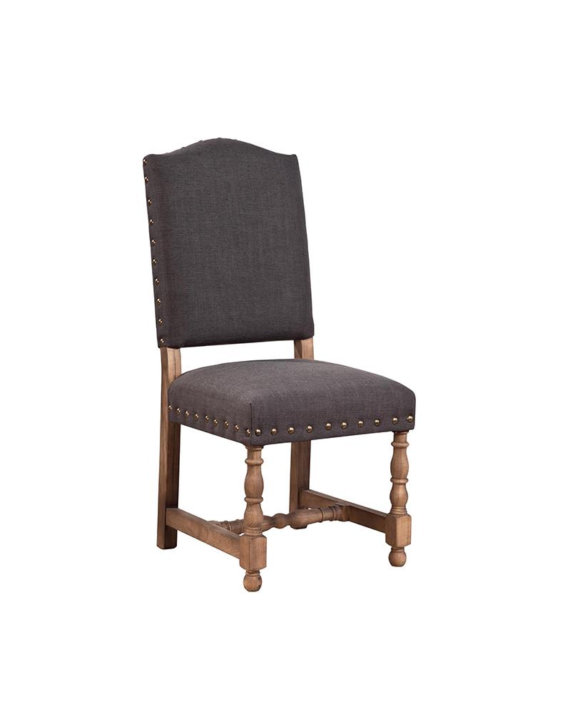 Linen Nailhead Chair Rustic Trades Furniture