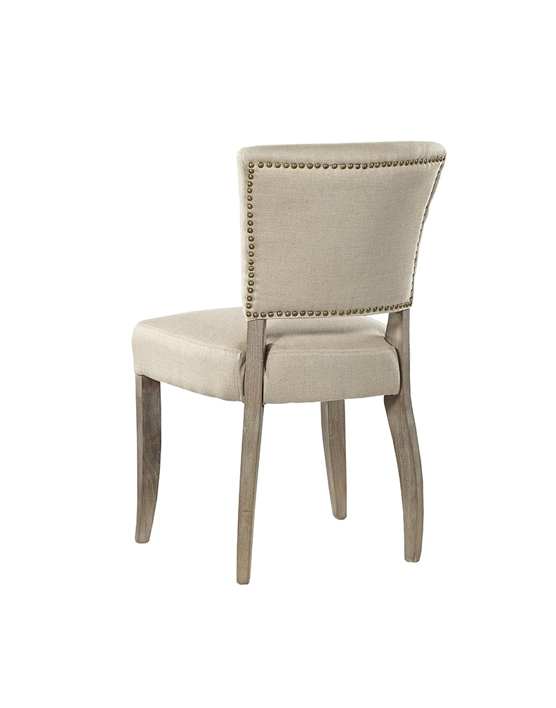 Simple Linen Side Chair Rustic Trades Furniture