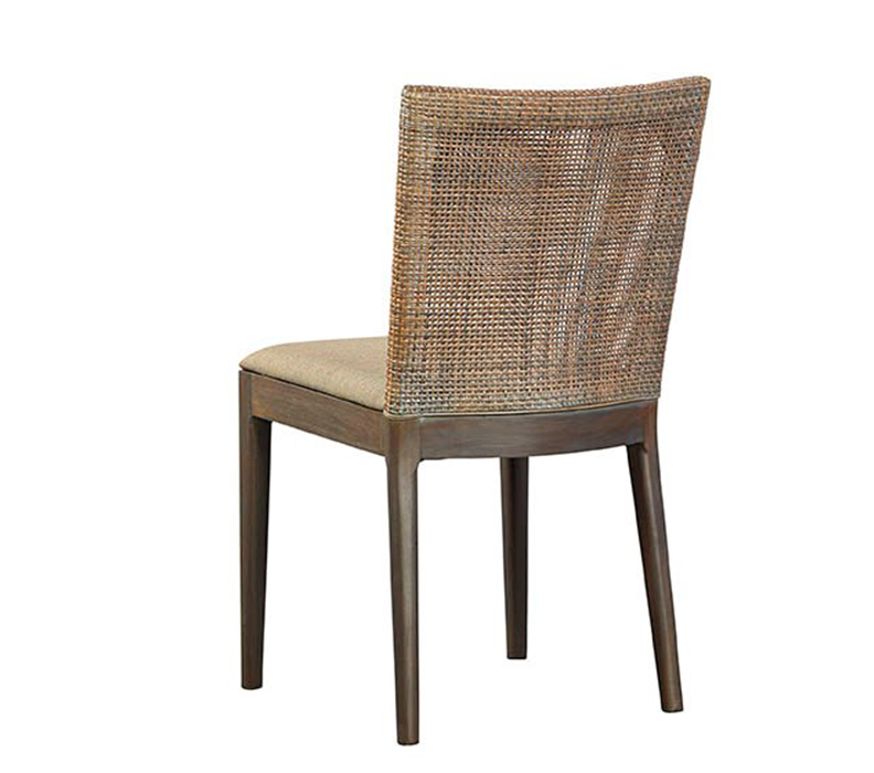 Woven Back Side Chair Rustic Trades Furniture