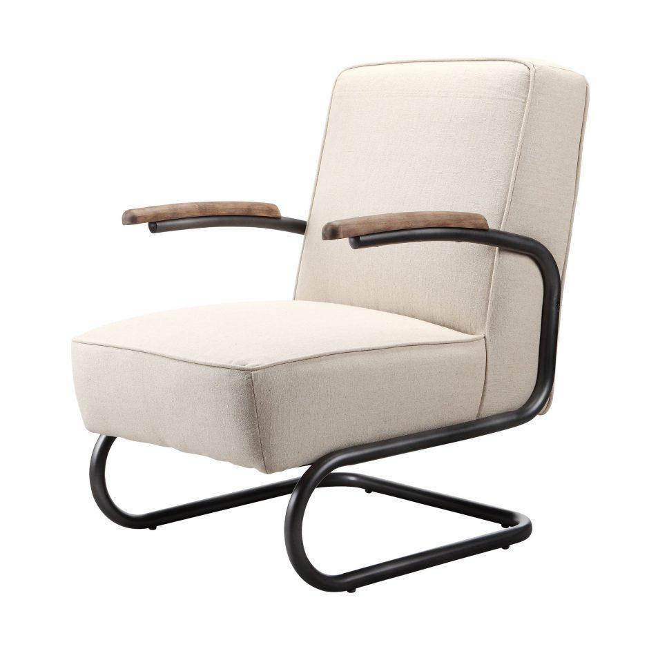 Perth Club Chair Beige Rustic Trades Furniture