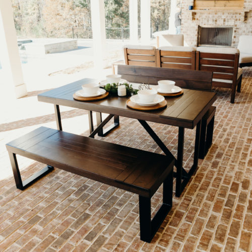 Braylon Triangle Outdoor Table