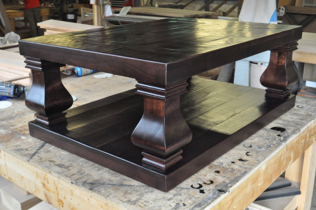 custom dark weston coffee table