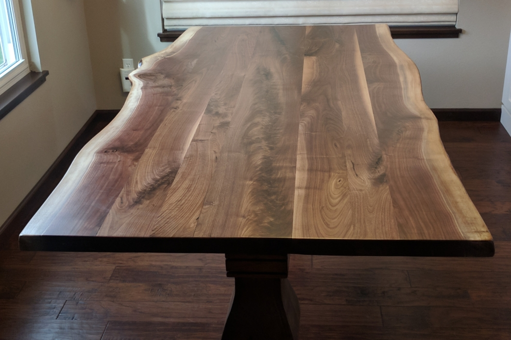 large live edge kitchen table
