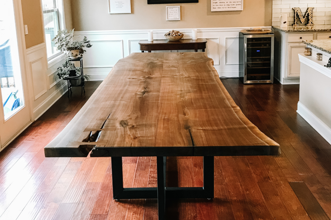 live edge kitchen table