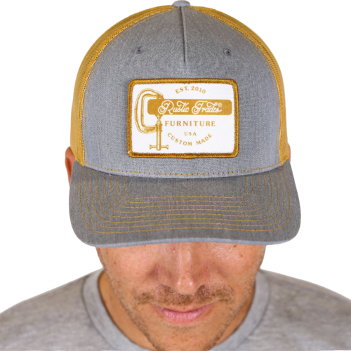 Grey and Gold Mid Pro Hat