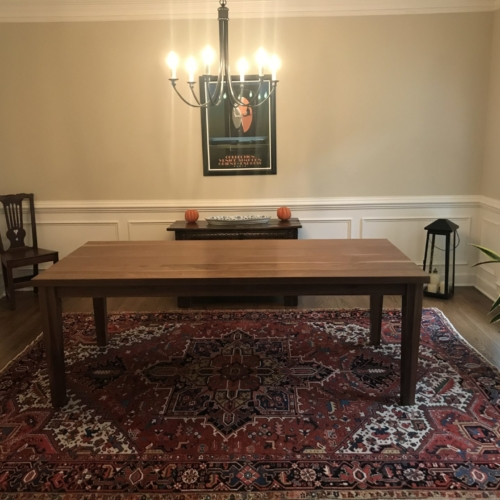 rustic parsons dining table