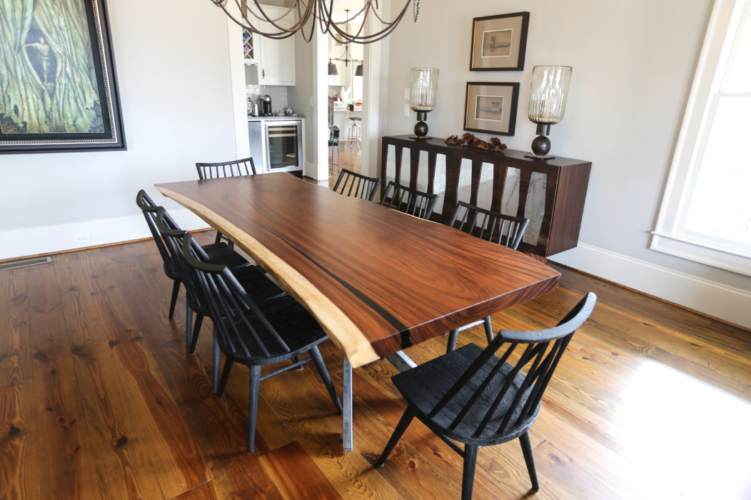 parota live edge dining table