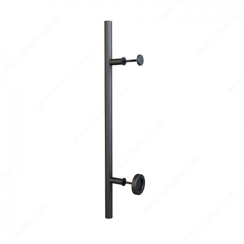 Long Bar Handle With Knob - Black